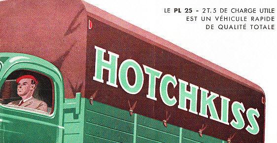 1952 HOTCHKISS PL25 TRUCK BROCHURE e