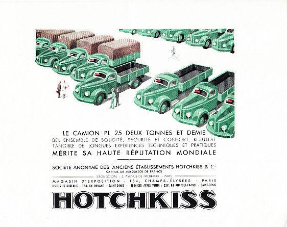 1952 HOTCHKISS PL25 TRUCK BROCHURE h