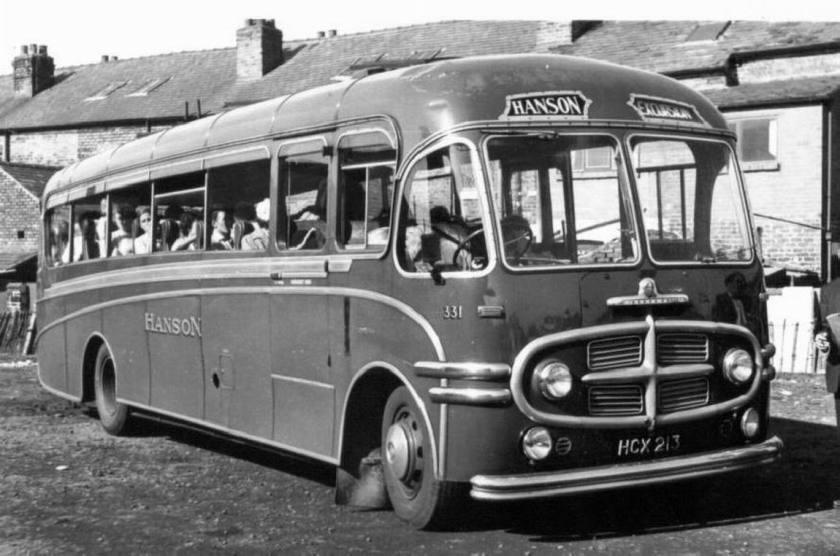 1953 Bedford SB 25653 Plaxton C35F seats