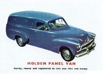 1953 holden fj panel van ad