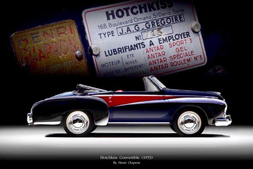 1953 HOTCHKISS J.A.G. GREGOIRE CABRIOLET BY HENRI CHAPRON