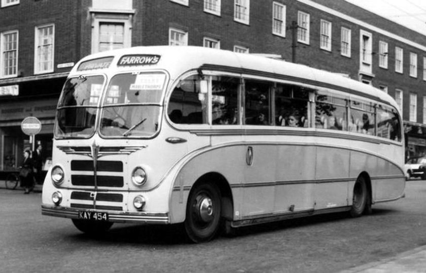 1954 Bedford SBG with 'Seagull' body