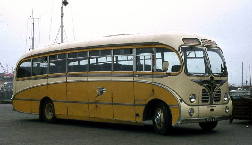 1956 Bedford SBG with Burlingham C35F bodywork
