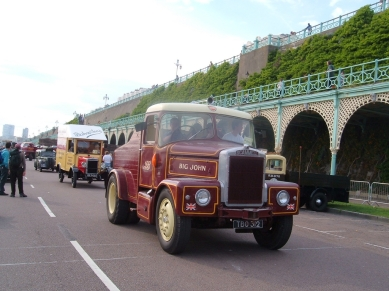 1959 Scammell lorry reg TBO 312