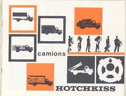 1963 Hotchkiss PL50 DH50 4 Ton Truck Brochure French wu4821