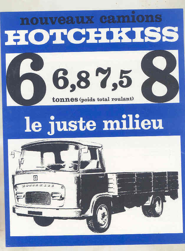 1966 Hotchkiss 6-8 Ton Truck Brochure French wu7886