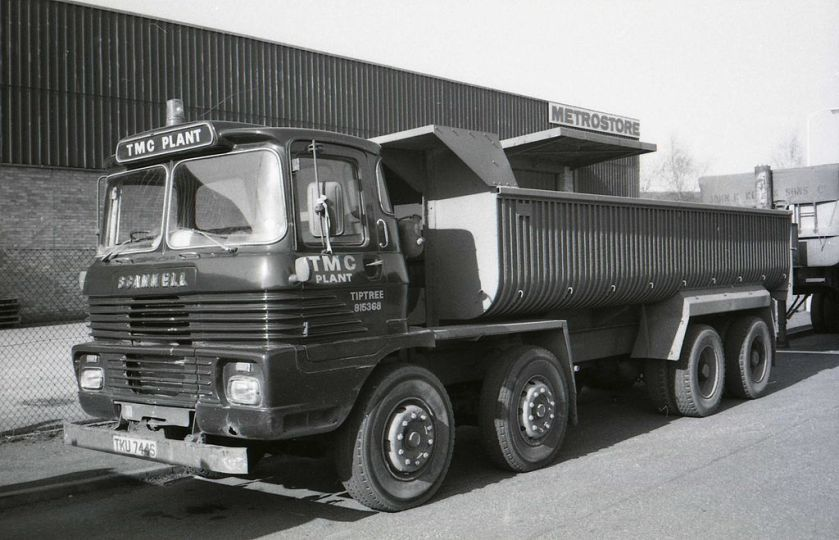 1978 Scammell Routeman TKU 744S of TMC Plant,Tiptree. 1978 at Maldon