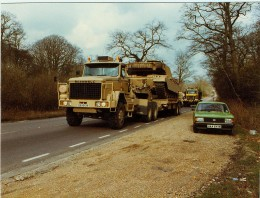 1980s Scammell S24 6X6 Military Tank Transporter