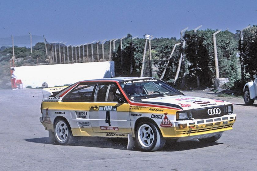 1984 Audi quattro A2 at the 1984 Rally Portugal