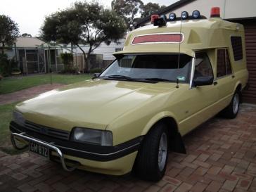 1985 Ford XF Falcon GL ambulance