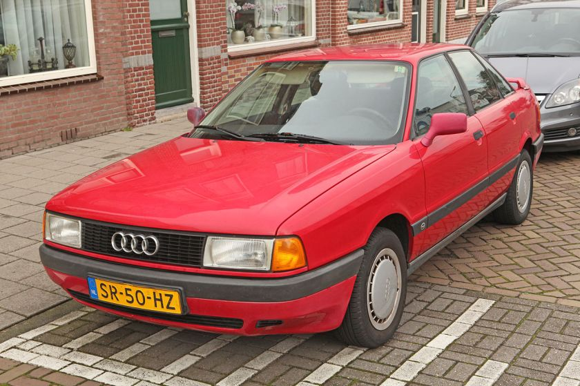 1987 Audi 80 1.8, 75PS - first registered 19 Nov 1987