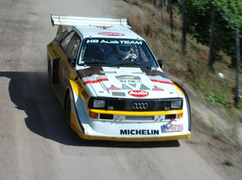 2007 Audi Quattro S1 driven during the 2007 Rallye Deutschland
