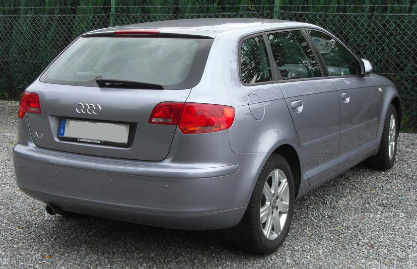 2008 Audi A3 Sportback rear