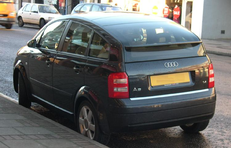 2012 Audi A2 back