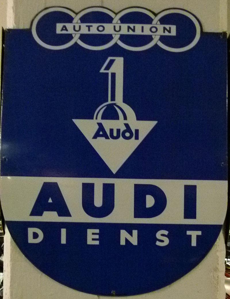 Audi-Logo unter der Auto Union