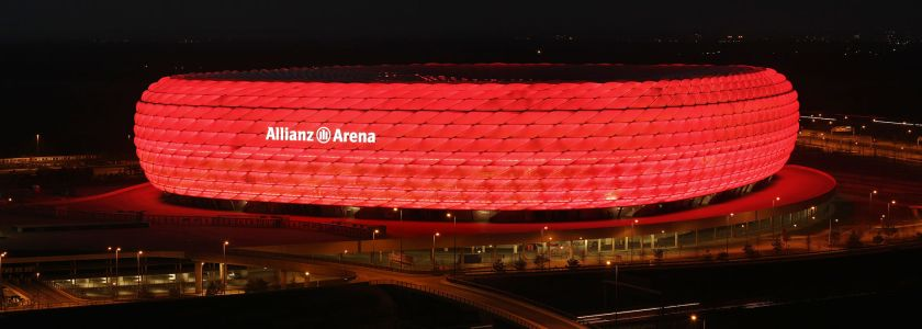 Audi sponsors Bundesliga club Bayern Munich Allianz Arena