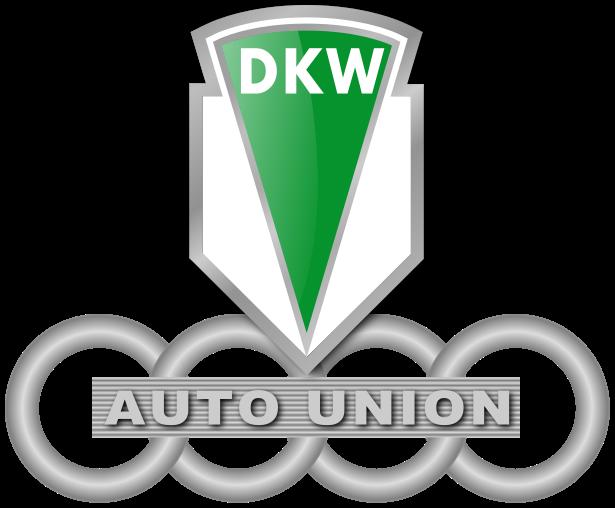 DKW-Logo – die vier Ringe der Auto Union entsprechen den vier Marken Audi, DKW, Horch und Wanderer
