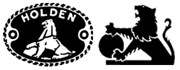 GM Holden Ltd logos from 1928 (left) and 1972 (right)