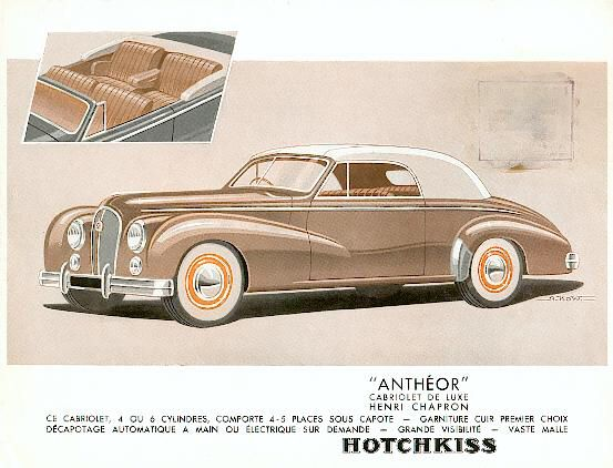 Hotchkiss Anthéor Brochure