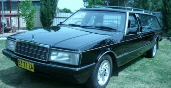 HZ Holden Premier with WB Caprice front Hearse. Australia