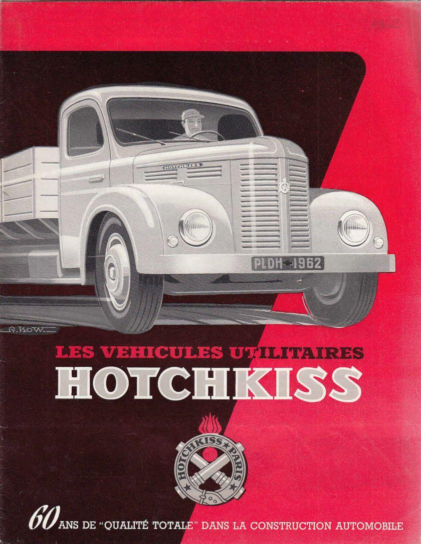 LES VEHICULES UTILITAIRES HOTCHKISS BROCHURE a
