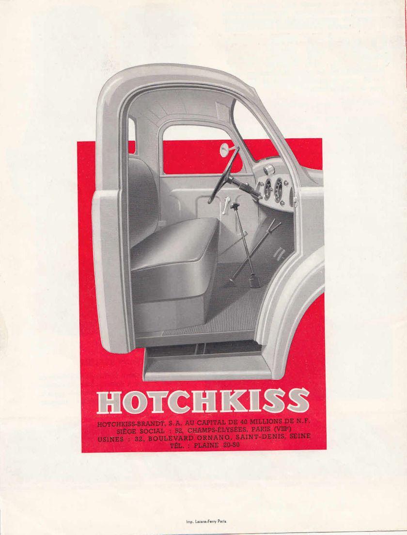 LES VEHICULES UTILITAIRES HOTCHKISS BROCHURE h