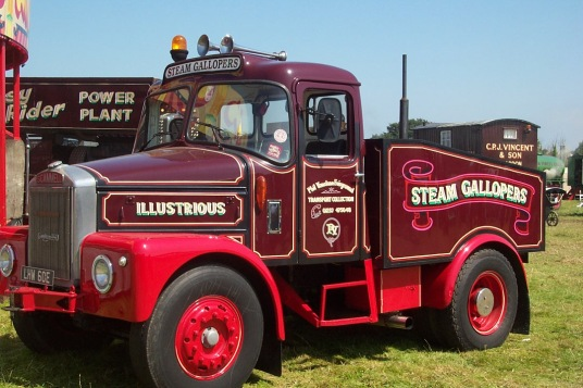 Scammell Ballast Tractor fairground livery