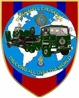 Scammell Crusader trucking all over the World badge