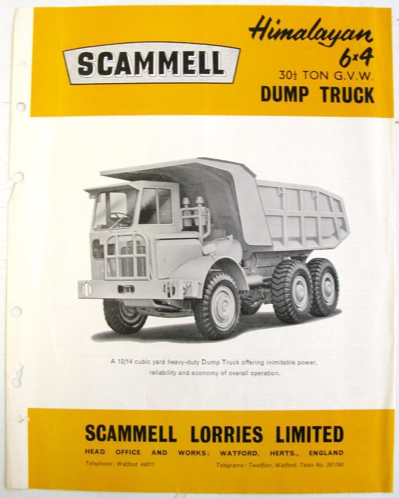 SCAMMELL Himalayan 6x4 Original Commercials Sales Sheet