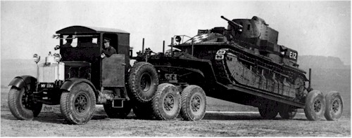 scammell showtrac pioneer-early-tank-transporter