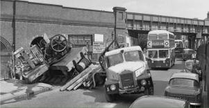 Scammell with accident