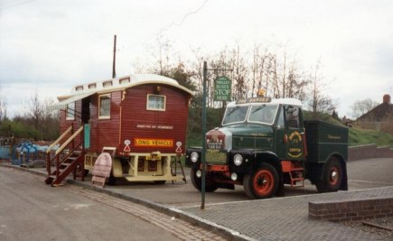 Showman's Caravan and Scammell Highwayman Truck at Black Country Living Museum