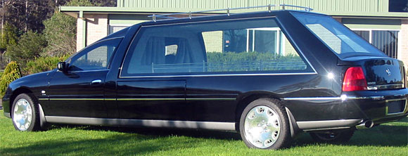 Statesman, high roof hearse. Caprice rear kick- out and moulds.