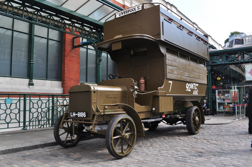1914 AEC LGOC B-Type B2737 LH8186 now in wartime livery, London Transport Museum