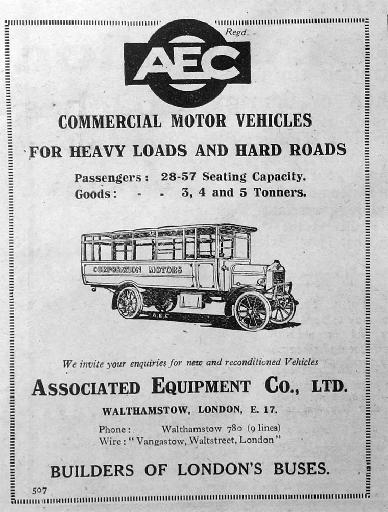 1922 AEC ad