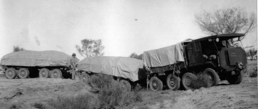 1934 Aec Govt Roadtrain On Its Way Maiden Journey To Alice Springs In May 1934