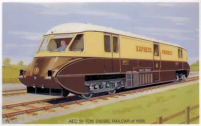 1938 AEC 10-ton diesel railcar