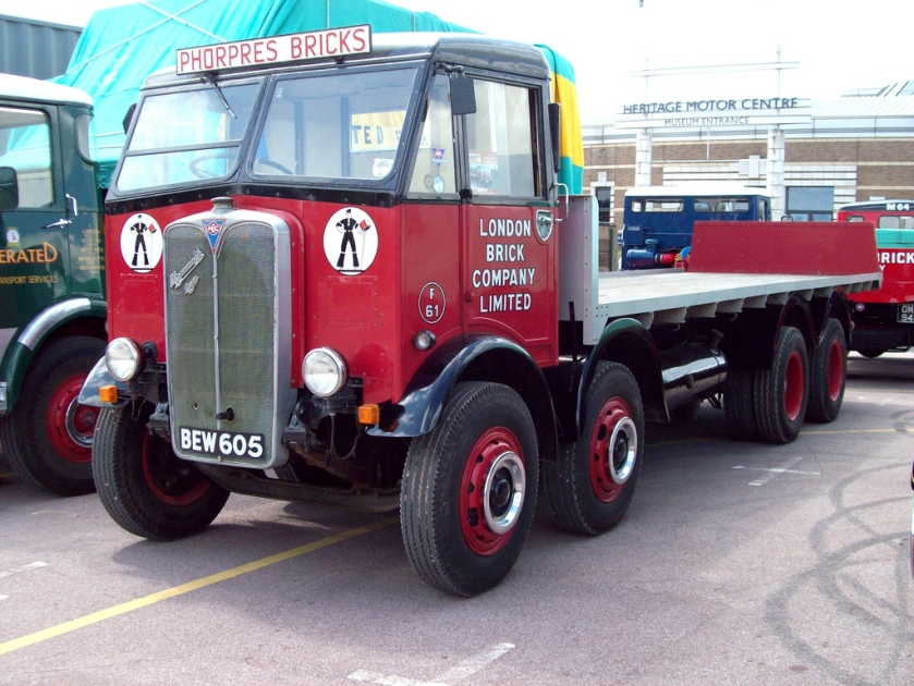 1939 AEC Mammoth Major II 8 wheel Flatbed Reg. No. BEW 605