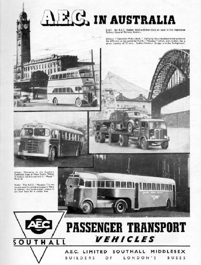 1950 AEC in Australia Advert 0420