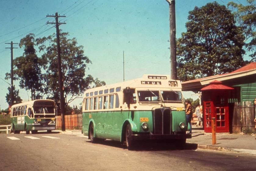 1952 2521 AEC Regal III with 3521 behind 2521