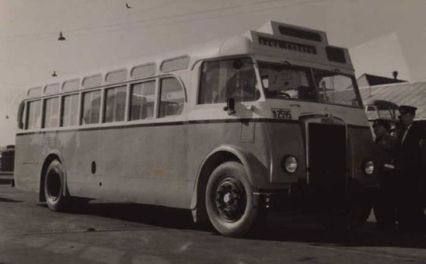 1952 AEC Regal bus to I can't read it