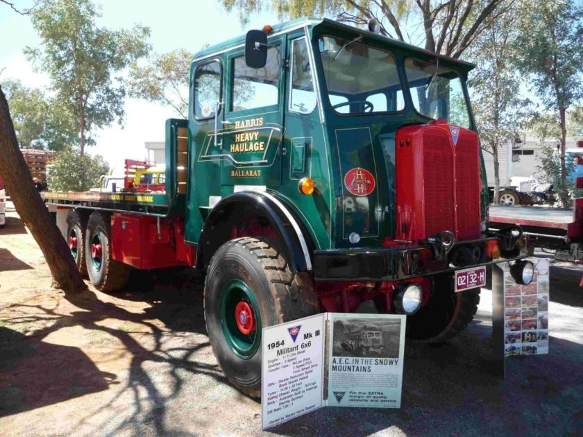 1954 Aec 1954 Mkiii 6X6 Militant With 113 Litre Diesel Engine Front Wheel Drive Owned By Warren Harris Vc