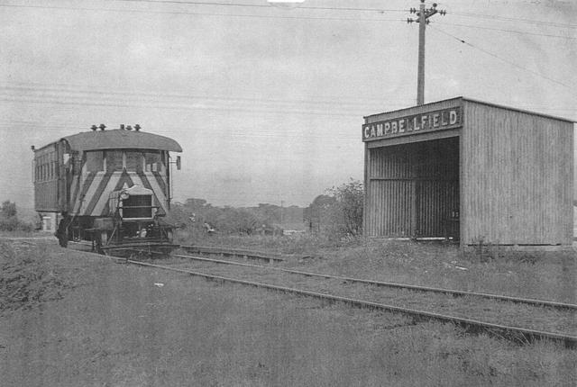 1954 AEC rail motor approaches Campbellfield