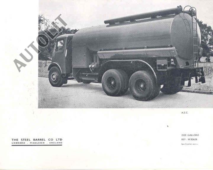 1954 AEC Steel Barrel Tank Truck Sales Brochure