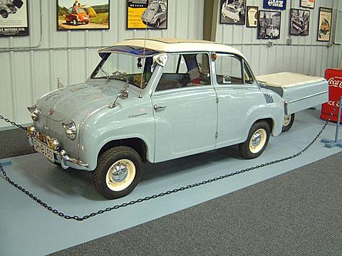 1960 Glas Goggomobil T-300 w sunroof + aanhanger (D)