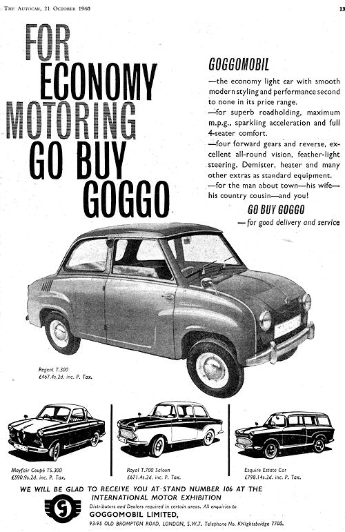 1960 goggomobil tyl