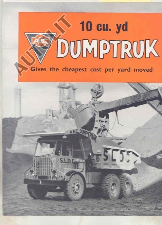 1961 AEC Barreiros Spain 10 Yard Construction Dump Truck Brochure Spanish a