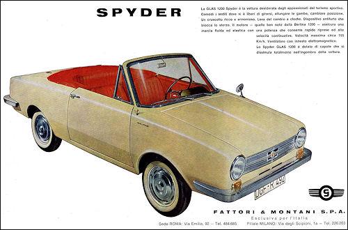 1963 glas 1204 kabrio