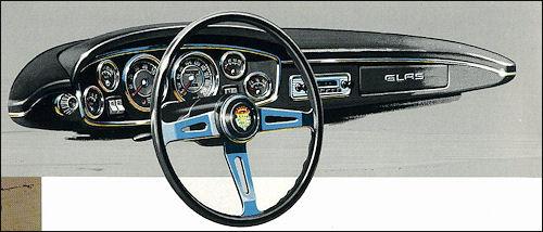 1963 glas 1300gt dash