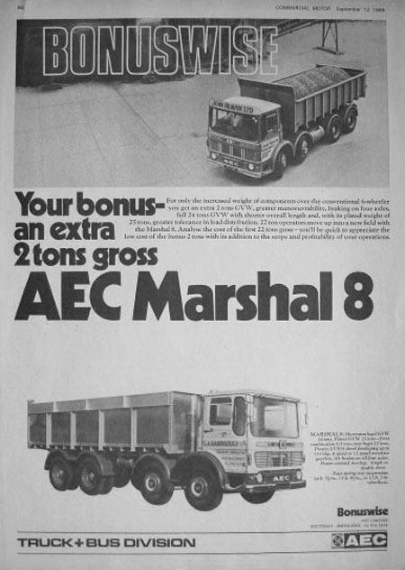 1965-1977 AEC » Marshal - Marshal 8 ( model TGM6 - TGM8 ) k